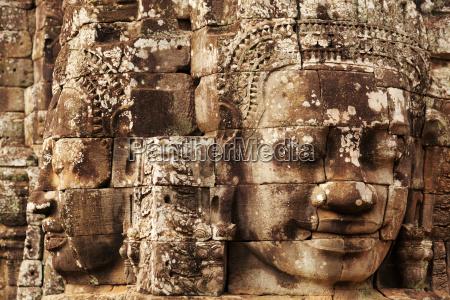 faces in bayon temple angkor wat