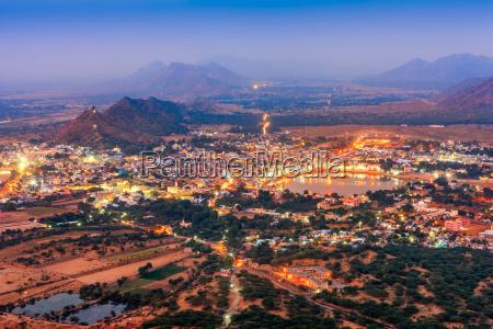 pushkar holy city in anticipation of