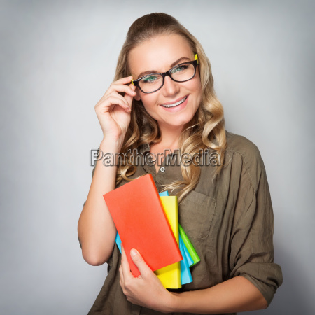 cute student girl portrait