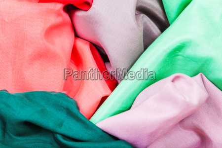 several pieces of silk batiste fabrics