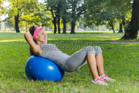 fitness healthy young woman exercise with