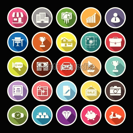 asset, and, property, flat, icons, with - 14712687