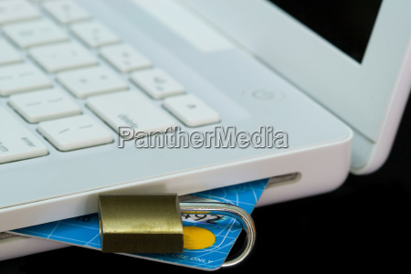 credit, card, in, white, laptop - 14713563