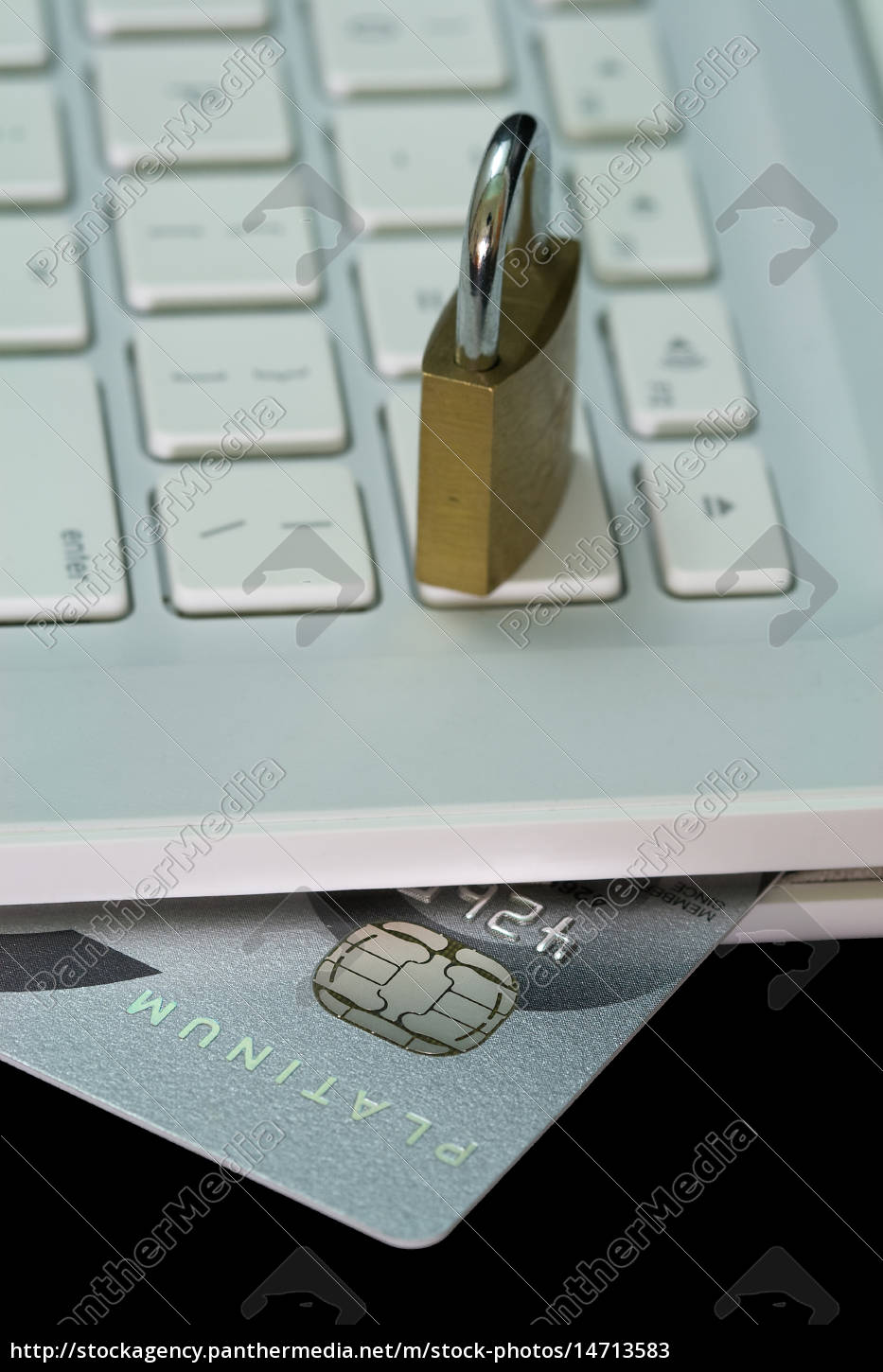 credit, card, in, white, laptop - 14713583