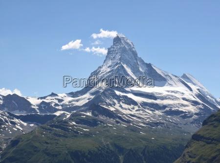 beautiful mountain matterhorn swiss alps