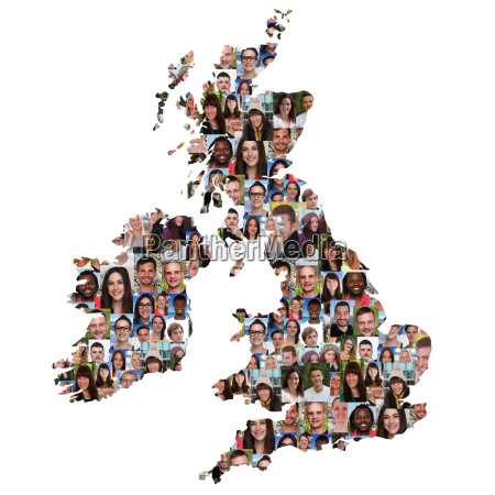 uk and ireland map people young