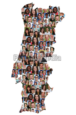 portugal map people young people group