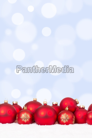 christmas motif many red christmas balls