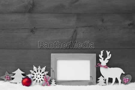 black and white christmas decoration snow