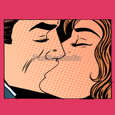 kiss man and woman love