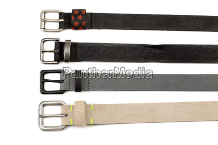 four leather belt with buckles