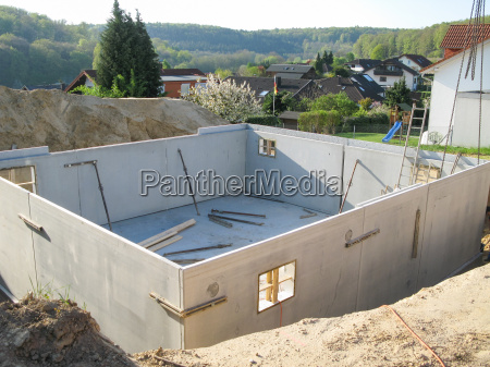 construction of a finished basement with