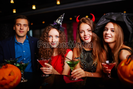 halloween party at bar