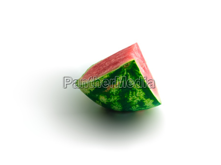 isolated piece of watermelon with most