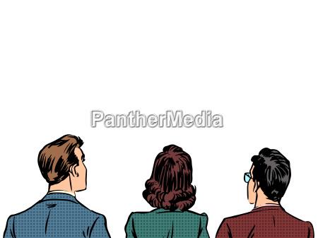 people back visitors viewers listeners