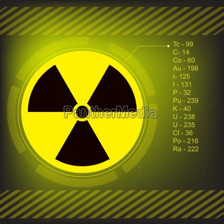 radiation warning symbol vector