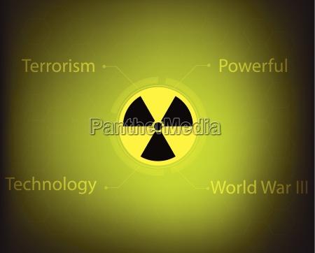 radiation warning symbol