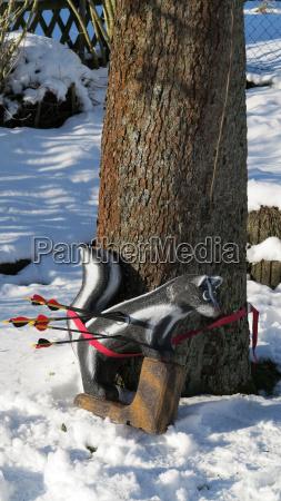 archery in winter on a 3d