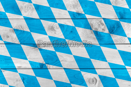 bavarian flag on wooden boards