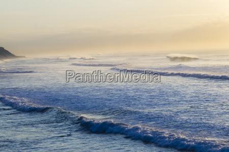 wave ocean swells coastline