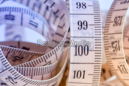 close up view of measuring