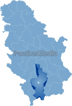 map of serbia subdivision kosovo district