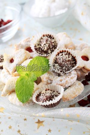 christmas cookies and chocolate treats