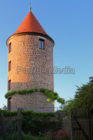 water tower on the mountain fortress