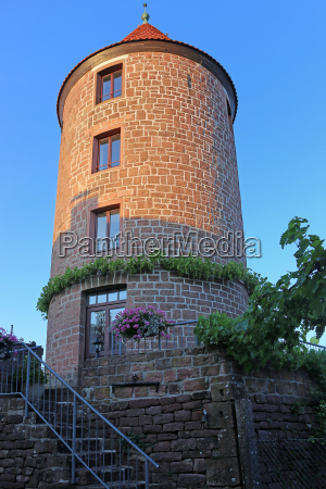 water tower on the dilsberg am