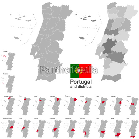 portugal and districts