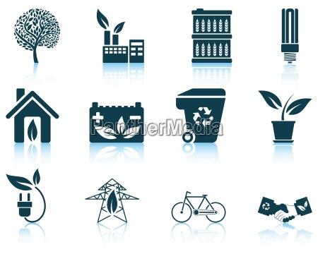 set of ecological icon
