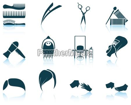 set of hairdresser icon