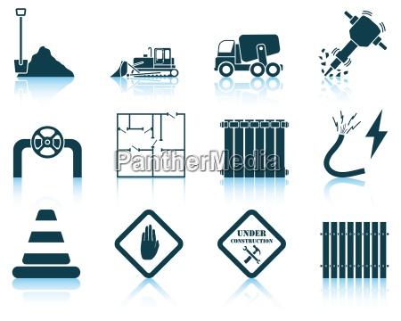 set of construction icon