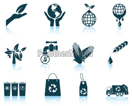 set of ecological icons