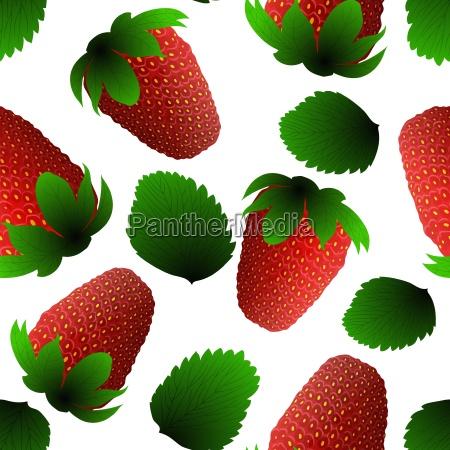 fresh strawberry seamless pattern