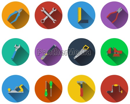set of tools icons