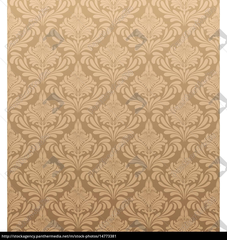 damask, seamless, vector, pattern - 14773381