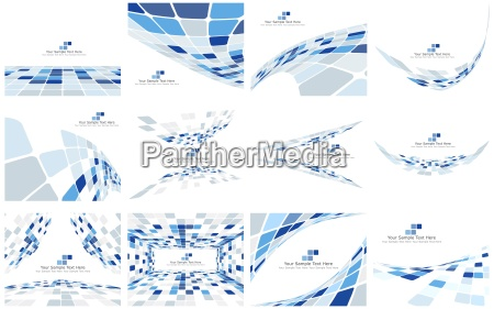 set of checkered backgrounds