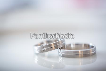 two splendid wedding rings on a