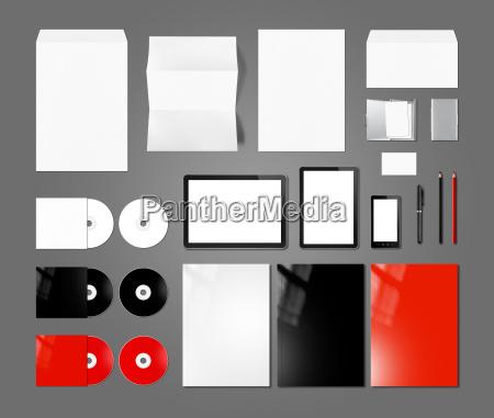 branding identity design mockup template dark