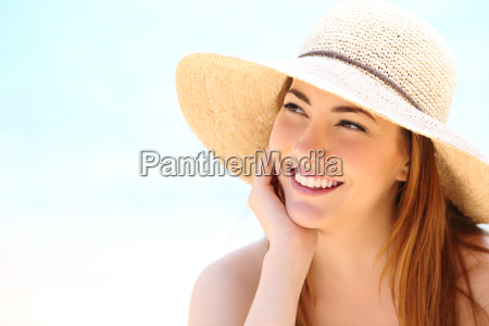 beauty woman with white teeth smile