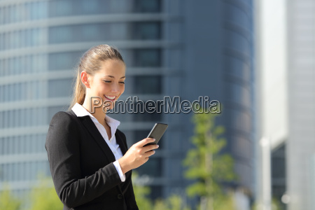 executive working with a mobile phone
