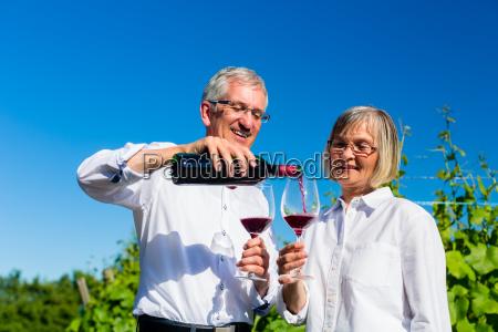 la pareja de ancianos disfruta del