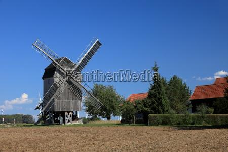 windmill in tuengeda in thuringia