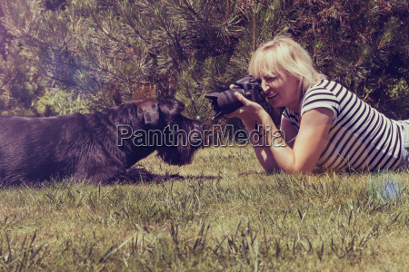 vintage photo of taking picture of