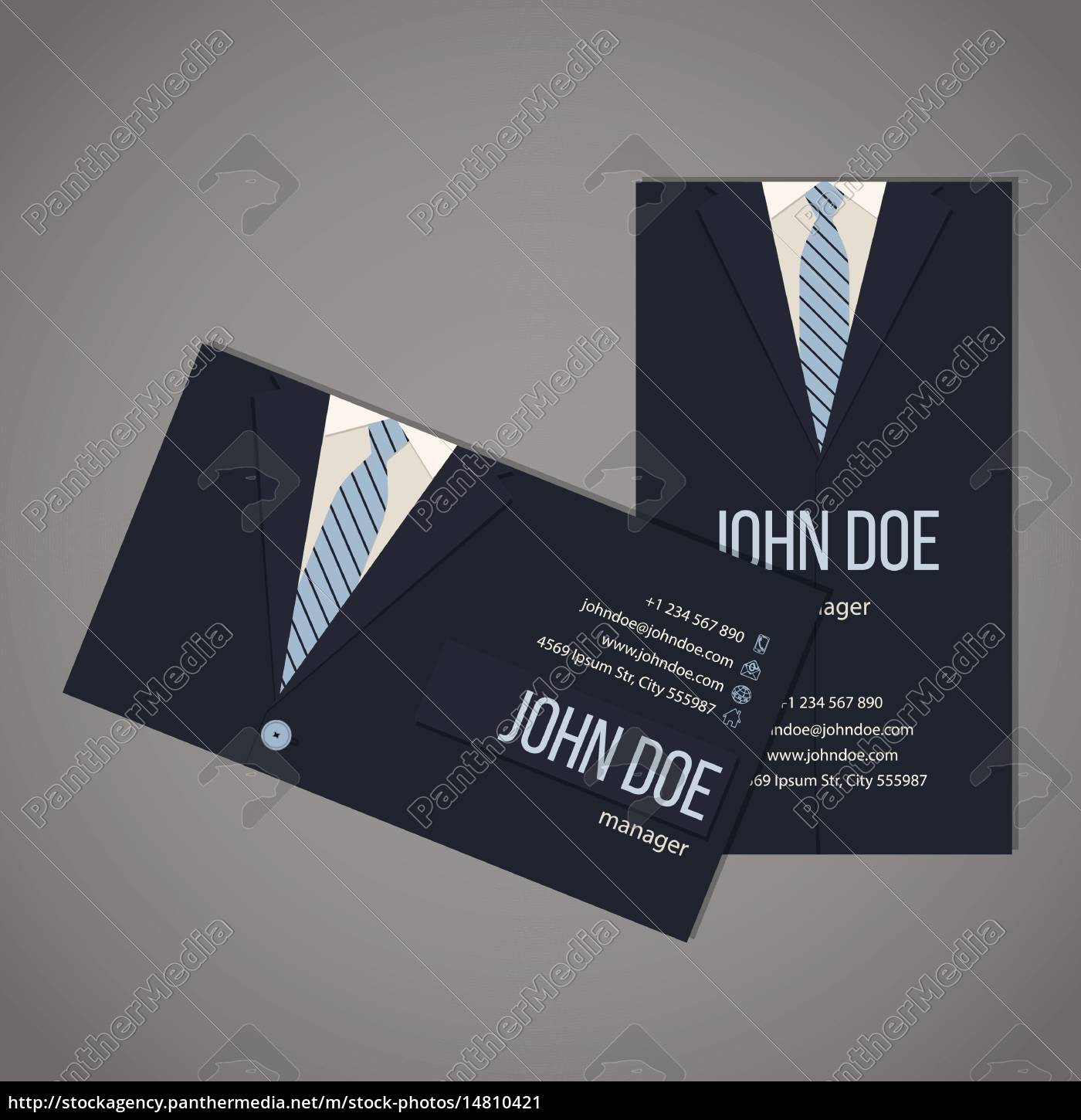 Royalty Free Vector 14810421 Business Suit Business Card Template