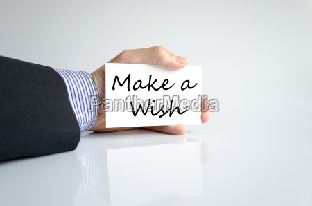 make a wish text concept
