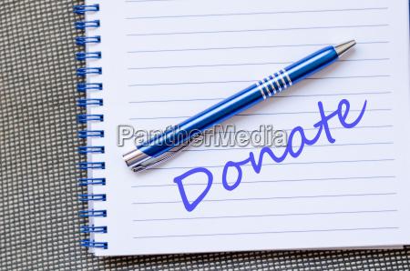 donate text concept