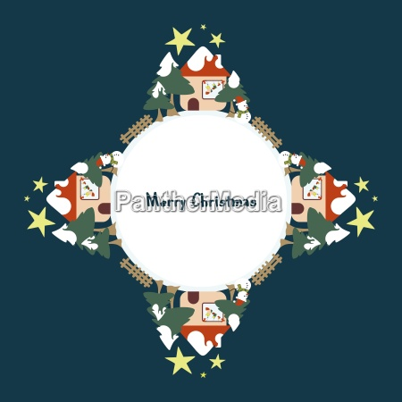 background with christmas decorations of christmas