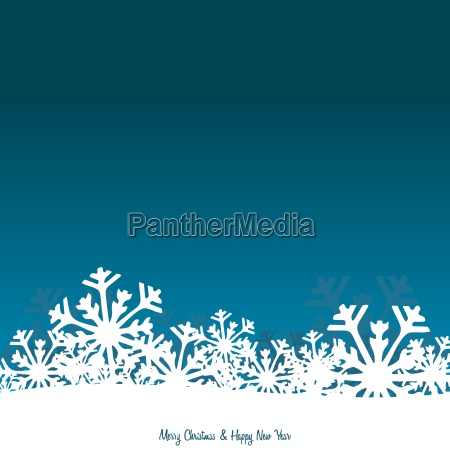 christmas background with snowflakes on light
